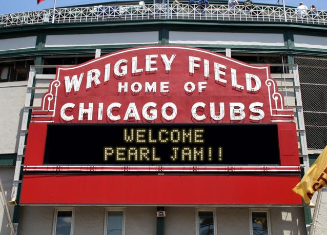 Wrigley Field sign message generator — Pearl Jam Community